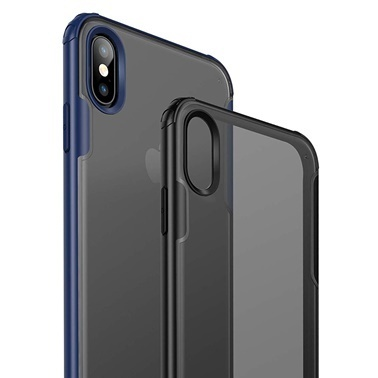 Microsonic Microsonic Apple iPhone XS Frosted Frame Kılıf Siyah